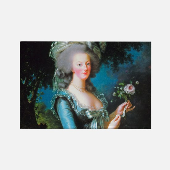 Marie Antoinette with Rose Rectangle Magnet