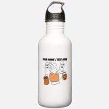 Personalized Trick Or Treating Ghosts Water Bottle