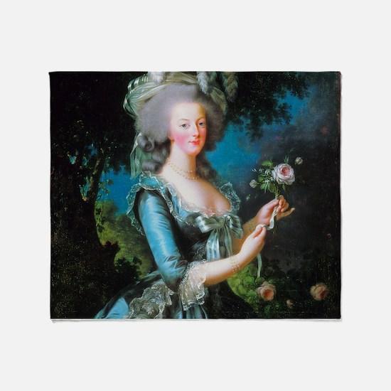 Marie Antoinette with Rose Throw Blanket