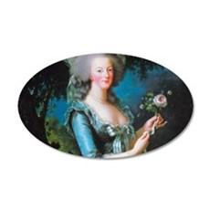 Marie Antoinette with Rose Wall Decal
