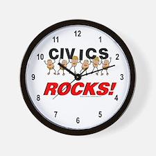 Civics Rocks Wall Clock