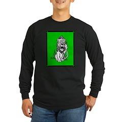 Cowardly Lion 2 Long Sleeve Dark T-Shirt