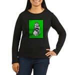 Cowardly Lion 2 Women's Long Sleeve Dark T-Shirt