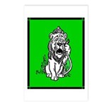 Cowardly Lion 2 Postcards (Package of 8)