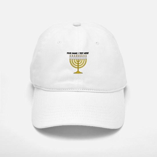 Personalized Menorah Candle Baseball Cap