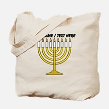 Personalized Menorah Candle Tote Bag