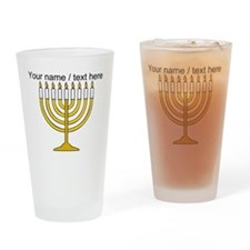 Personalized Menorah Candle Drinking Glass