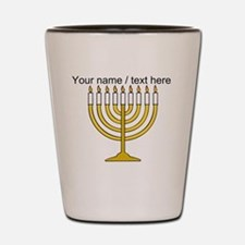 Personalized Menorah Candle Shot Glass