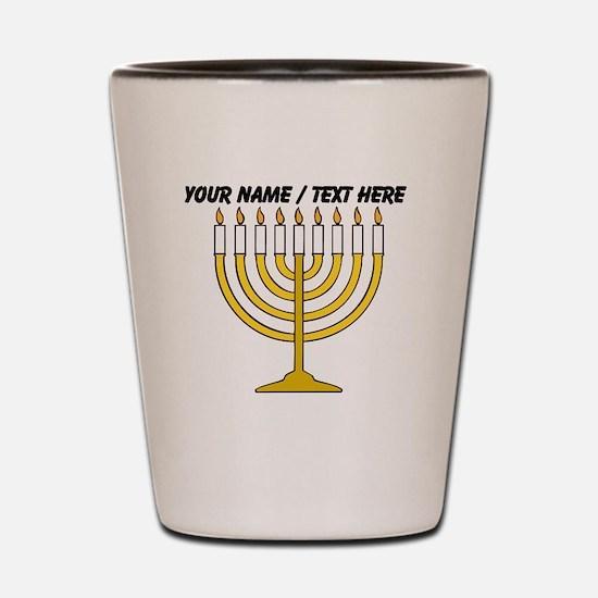 Personalized Menorah Candle Shot Glass