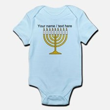 Personalized Menorah Candle Body Suit