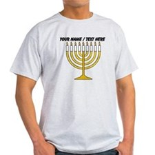 Personalized Menorah Candle T-Shirt