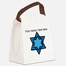 Personalized Blue Star Of David Canvas Lunch Bag