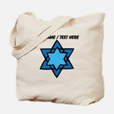 Personalized Blue Star Of David Tote Bag