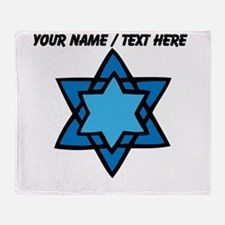 Personalized Blue Star Of David Throw Blanket