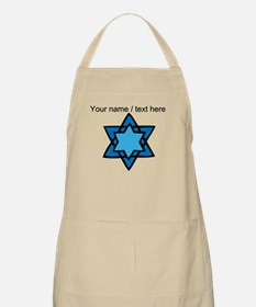 Personalized Blue Star Of David Apron