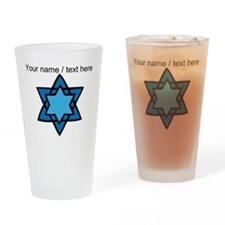 Personalized Blue Star Of David Drinking Glass