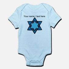 Personalized Blue Star Of David Body Suit