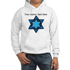 Personalized Blue Star Of David Hoodie