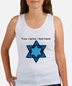 Personalized Blue Star Of David Tank Top
