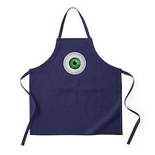Bloodshot Green Eyeball Apron (dark)