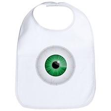 Bloodshot Green Eyeball Bib