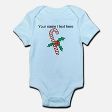 Personalized Candy Cane With Holly Body Suit