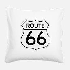Route 66 Square Canvas Pillow