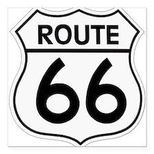 "Route 66 Square Car Magnet 3"" x 3"""