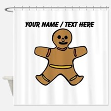 Personalized Gingerbread Cookie Shower Curtain