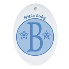 Baby B Oval Ornament