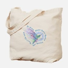 Hummingbird Heart Art Tote Bag