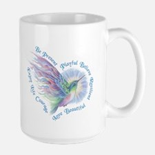 Hummingbird Heart Art Mug