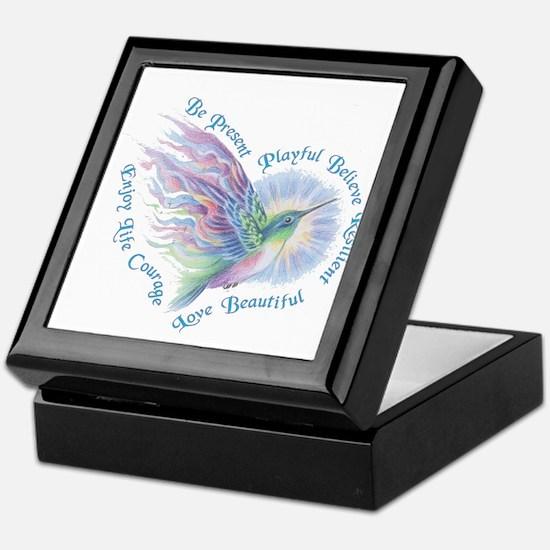 Hummingbird Heart Art Keepsake Box