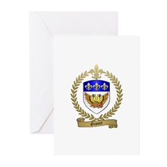 GIONET Family Crest Greeting Cards (Pk of 10)