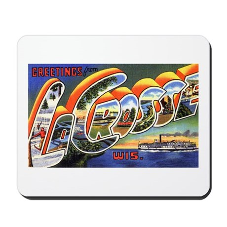 La Crosse Wisconsin Greetings Mousepad