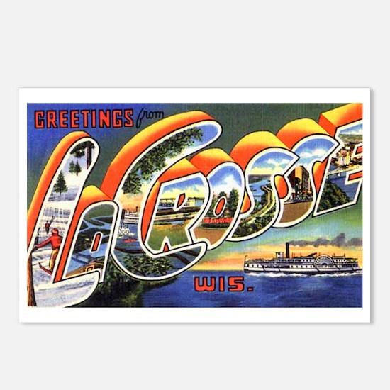 La Crosse Wisconsin Greetings Postcards (Package o