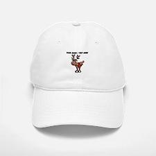 Personalized Cartoon Red Nose Reindeer Baseball Ca