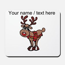 Personalized Cartoon Red Nose Reindeer Mousepad