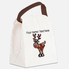 Personalized Cartoon Red Nose Reindeer Canvas Lunc