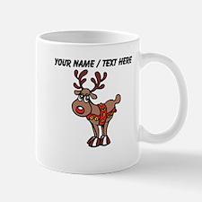 Personalized Cartoon Red Nose Reindeer Mug