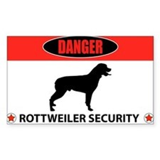 Danger Rottweiler Security Decal
