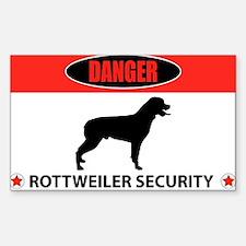 Danger Rottweiler Security Decal