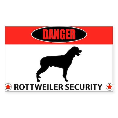 Danger Rottweiler Security Sticker