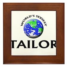 World's Sexiest Tailor Framed Tile