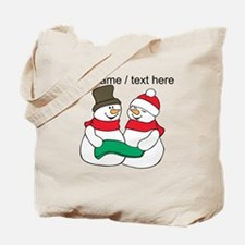 Personalized Snowman Couple Tote Bag