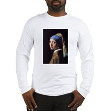 The Girl With A Pearl Earring Long Sleeve T-Shirt