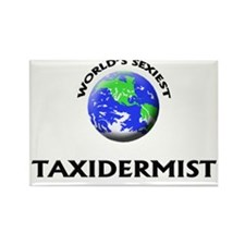World's Sexiest Taxidermist Rectangle Magnet