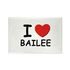 I love Bailee Rectangle Magnet