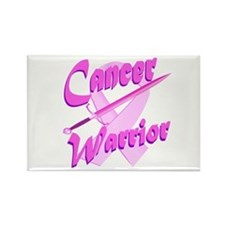 Cancer Warrior Pink Button Rectangle Magnet