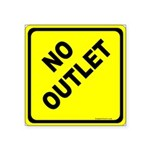 No Outlet Sign Square Sticker 3